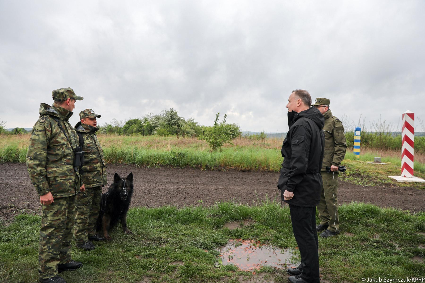 Prezydent w Bieszczadzkim Oddziale Straży Granicznej [FOTO] - Zdjęcie główne