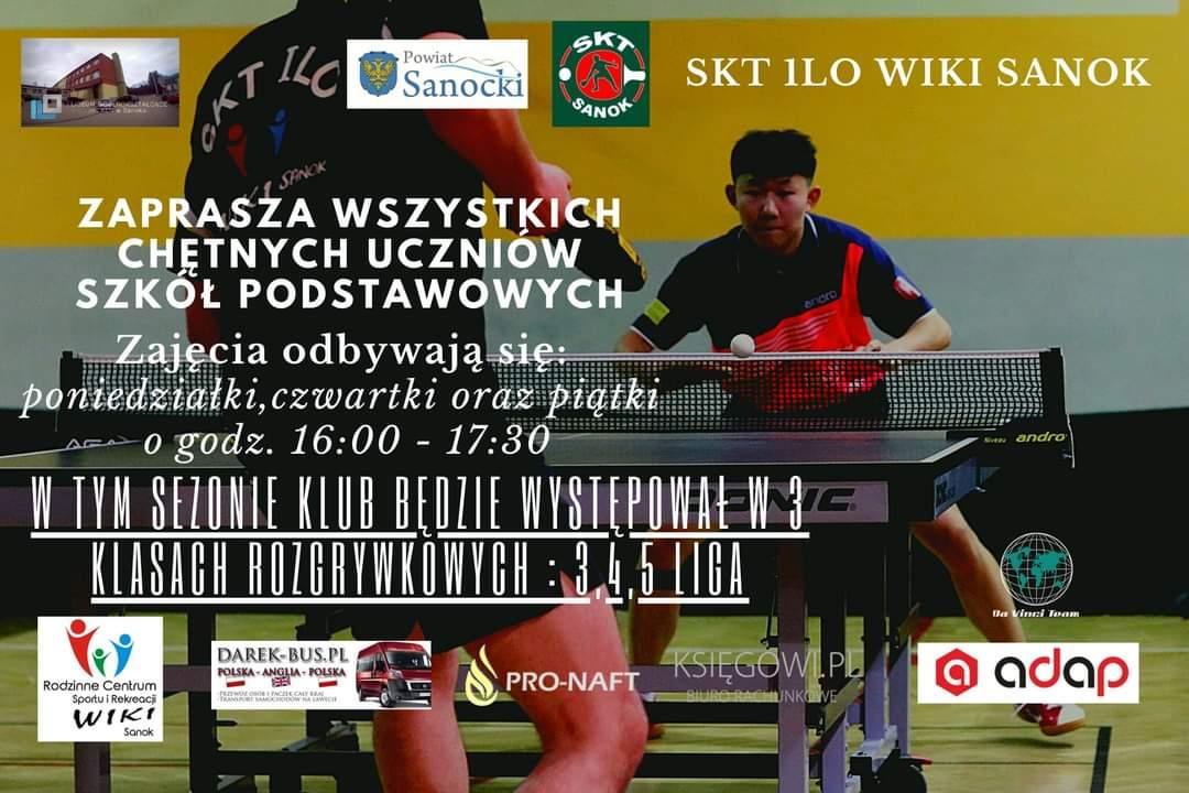 Ruszają treningi tenisa stołowego w sanockim I LO - Zdjęcie główne