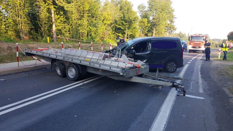 Zderzenie dwóch pojazdów w Nowosielcach  - Zdjęcie główne