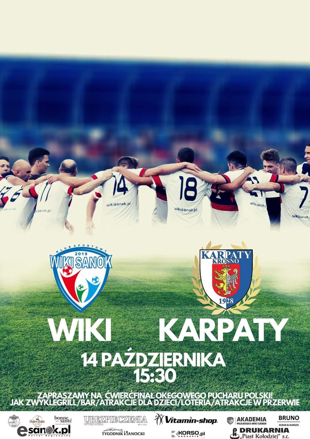 Wiki Sanok zagra w środę 14 października w Pucharze Polski z Karpatami Krosno - Zdjęcie główne